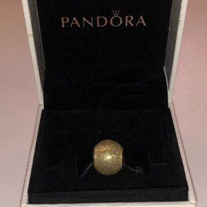 Gold glitter ball